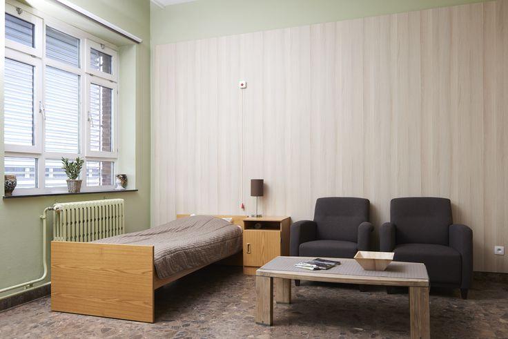 Melteca Clipwall Marne Oak at Public Psychiatric Hospital in Geel, Belgium