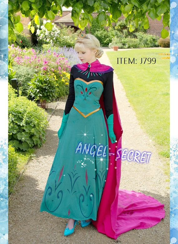 J799 Movies Frozen coronation Elsa Cosplay Costume by angelssecret, $179.99