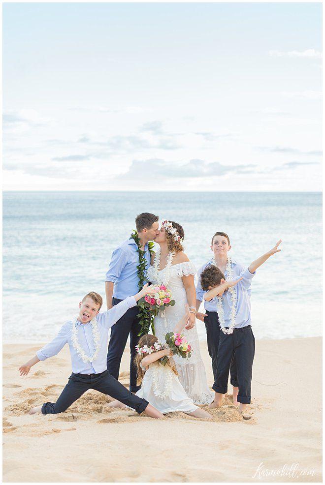 A Family Affair Anna Danny S Oahu Vow Renewal Beach Wedding