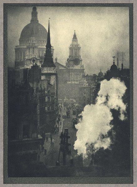 St. Paul's From Ludgate Circus Coburn, Alvin Langdon, b.1882-1966 London, 1910 16.5 x 22.7 cm Photogravure