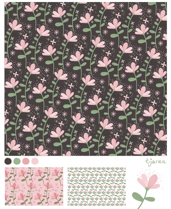 Pattern with flowers door zwiep.nu