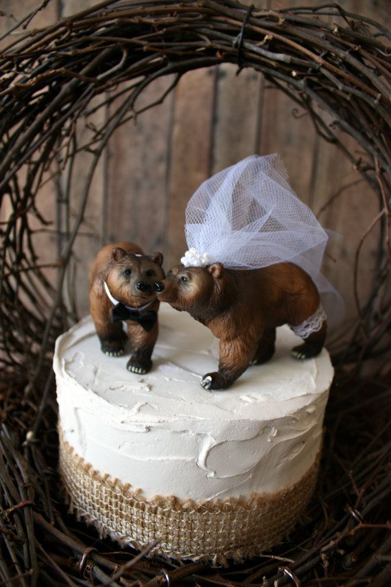 brown bear wedding cake toppers brown cake topper wedding ideas brown 12190
