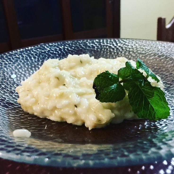 Risotto al Limone e Menta #food #foodporn #yum #instafood  #yummy #amazing #instagood #photooftheday #sweet  #fresh #tasty #food #delish #delicious #eating #foodpic #foodpics #eat #hungry #foodgasm #hot #foods #brazil #minasgerais #novalima