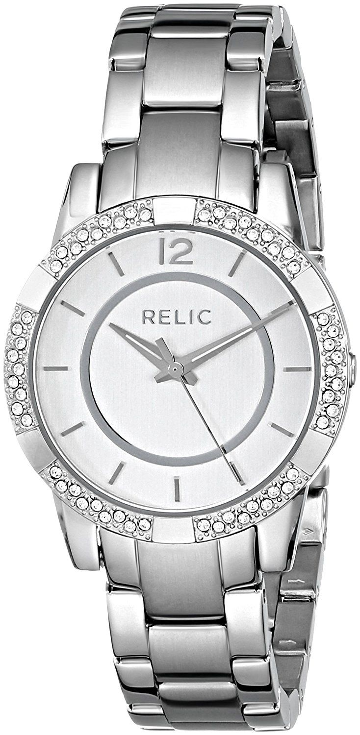 Relic Women's ZR34201 Payton Glitz Silver-Tone Watch >>> Details can be found by clicking on the image.