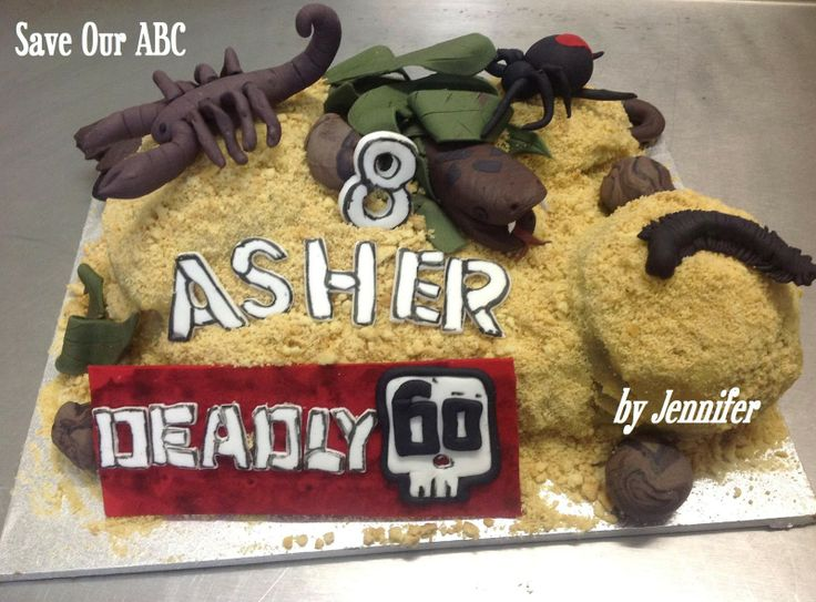 """Deadly 60 Cake by Home Baker Jennifer. In Australia we are losing funding to our independent television channel The ABC. I am starting a collection of photos from our local Cake Decor in Cairns home baking mums and dads to support the facebook page (not run by me) """"Australians Baking Cakes for the ABC."""