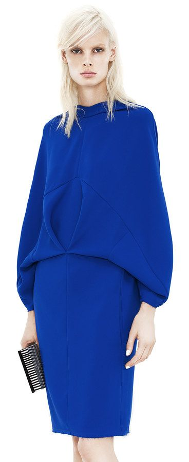 Acne Tandy Structure Royal blue