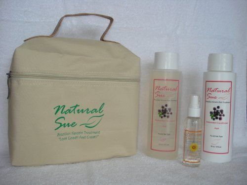 Organic Salt-free Shampoo Acai 16oz + Conditioner Acai 16oz + Silky Serum + FREE Travel Bag by Natural Sue. $31.00. Salt Free Shampoo Acai. Sunflower Seed Extract provides protection against heat and environmental damage.. Brazilian Keratin Post-Treatment. Perfect for colored hair too. Conditioner Acai. Shampoo: The ingredients work synergistically to protect hair from damage by environmental stressors of the sun and also to repair damage that already has occurred...