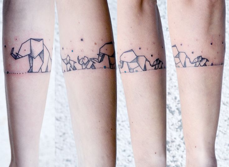 #tattoo #tattooorigami #elephant #elephanttattoo #familytattoo