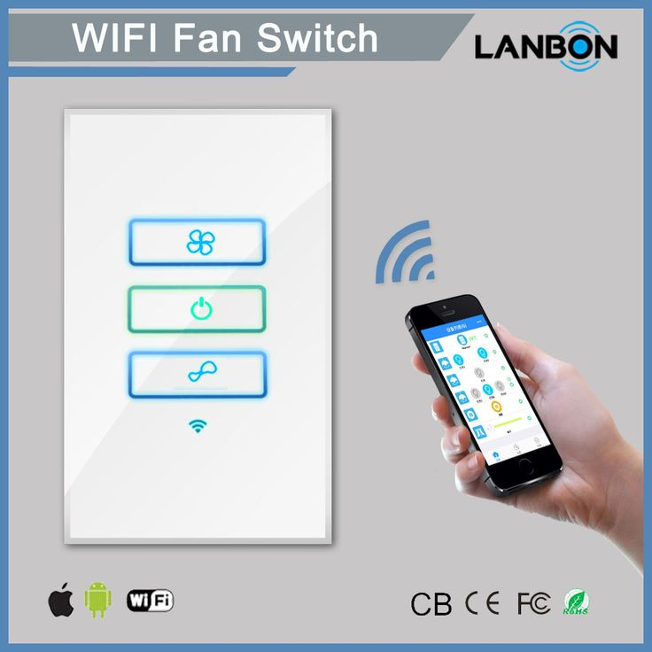 wifi smart remote control in wall switch smart fan switch on wall control id=16586