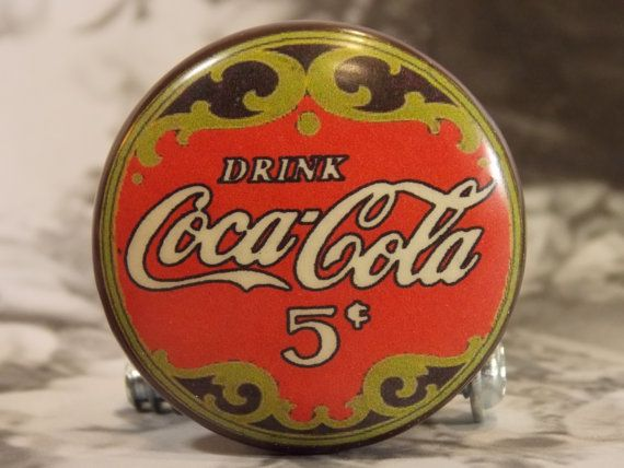 1-1/2 Dresser Knobs Coca-Cola Vintage Sign by dynastyprints