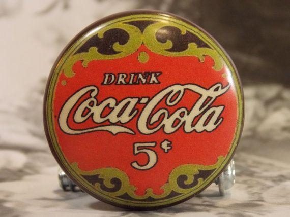 1-1/2 Dresser Knobs Coca-Cola Vintage Sign by dynastyprints