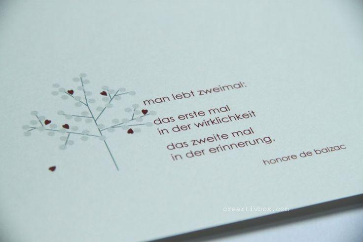 Trauer & Beileid - Trauerkarte - ABSCHIED - ein Designerstück von creartivbox bei DaWanda