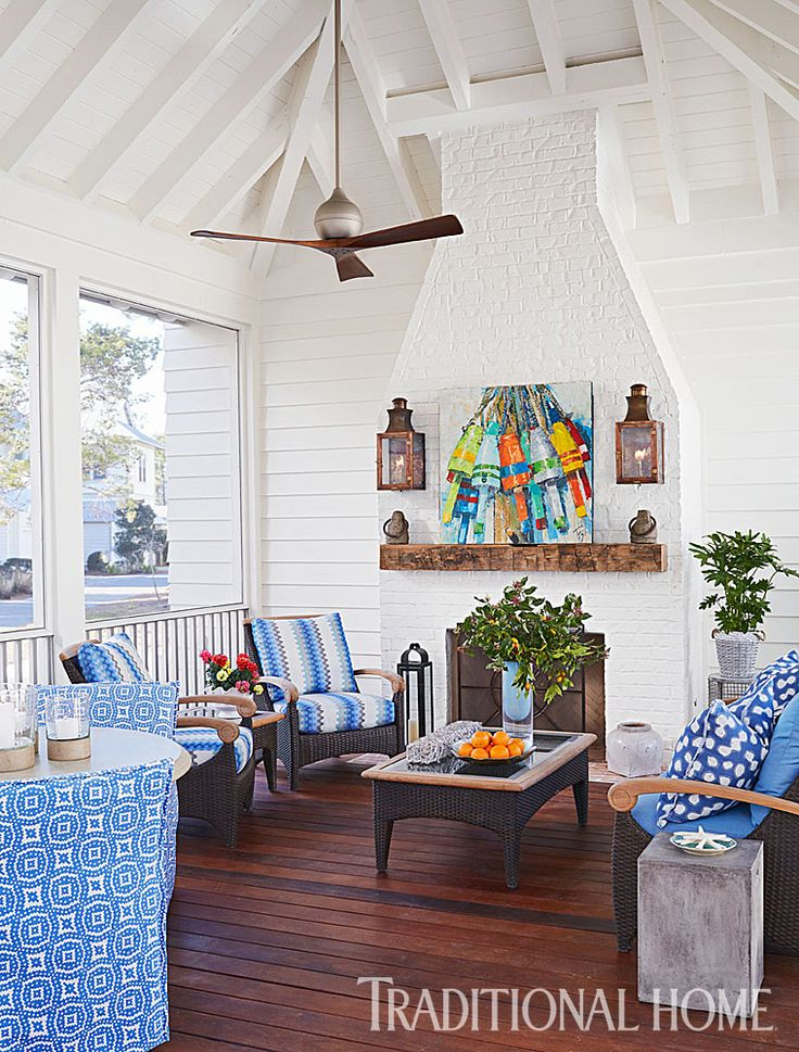 Open On Three Sides, The Porch Welcomes Cross Breezes, Especially On Warm  Summer Days