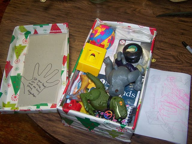 Draw hand on top of OCC box to pray with the child who receives your box.
