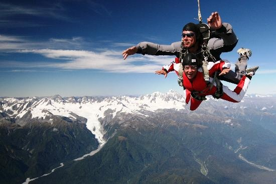 Skydiving, Franz Josef Glacier, New Zealand
