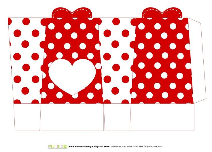 Scatole per san Valentino Porta cioccolatini o caramelle - S. Valentine Boxes