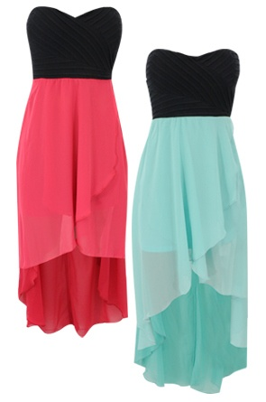 Hi-low Chiffon Dress