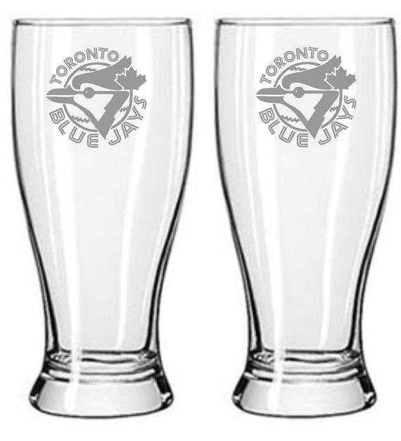 Toronto Blue Jays Pub Glass Set of 2 Sand by WulfCreekDesigns, $29.95