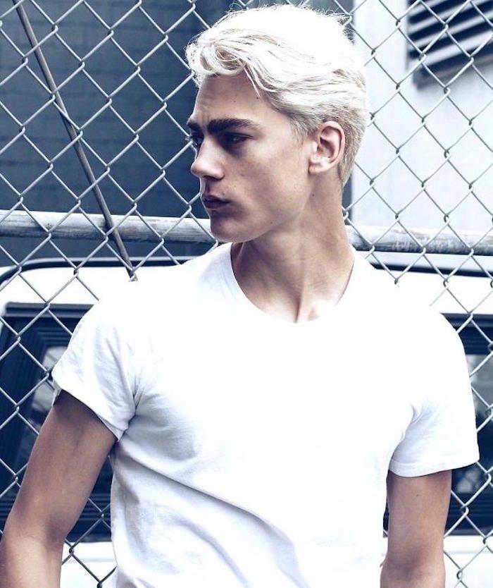 1001 Idees White Hair Men Bleached Hair Men Blonde Hair