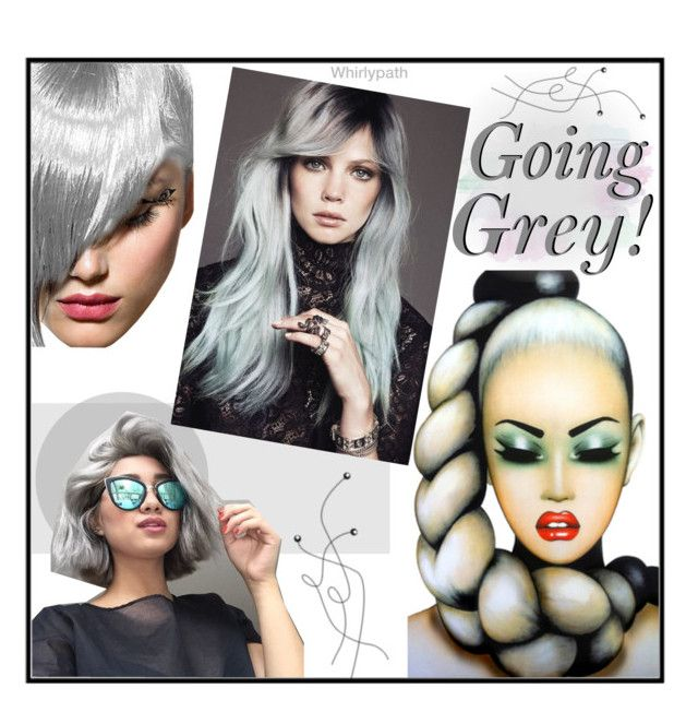 Going Grey! by whirlypath on Polyvore featuring beauty and Anja