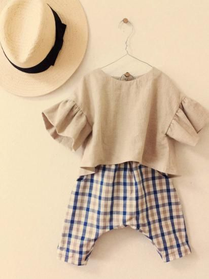 くったりリネンのプルオーバー - かわいいハンドメイドベビー服 lepolepo ルポルポ