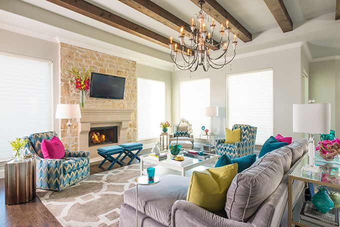 colorful family room   IBB Design Fine Furnishings