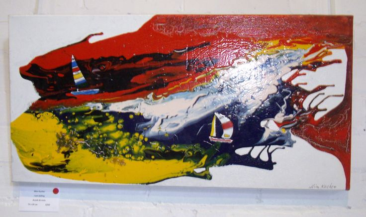 I am Sailing is the name of this acrylic on canvas. I had fun creating this one.