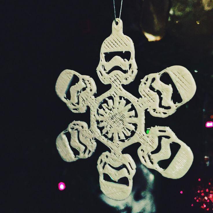 New to tomeksz on Etsy: Stormtrooper Snowflake Snow Star Wars Christmas Tree (5.99 USD)