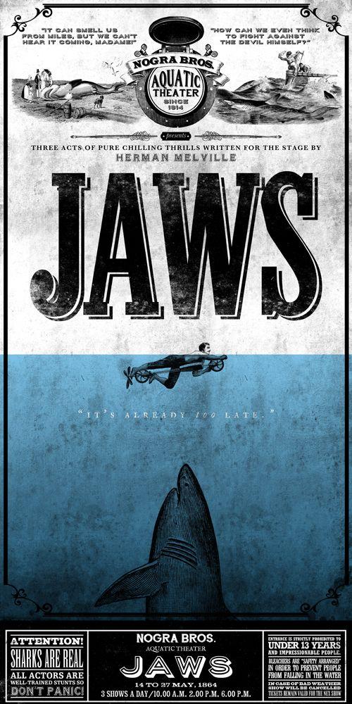 JAWS printed on blueback paper