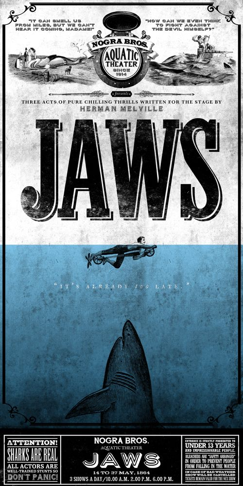 JAWS printed on blueback paper