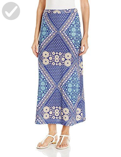 Roxy Juniors Forever Found Skirt, Bohemian Behavior/Blue Print, Large - All about women (*Amazon Partner-Link)