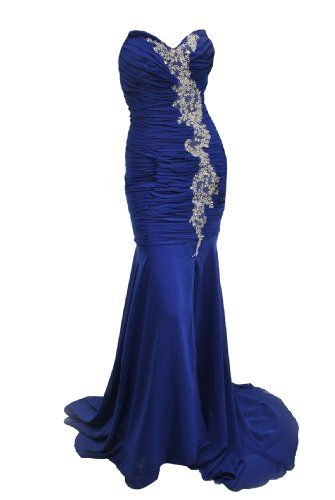 Moonar offer the best Moonar Chiffon Strapless Sweetheart Straight Prom Formal Gown Party Bridesmaid Wedding Dress Blue Size 12. This awesome product currently in stocks.