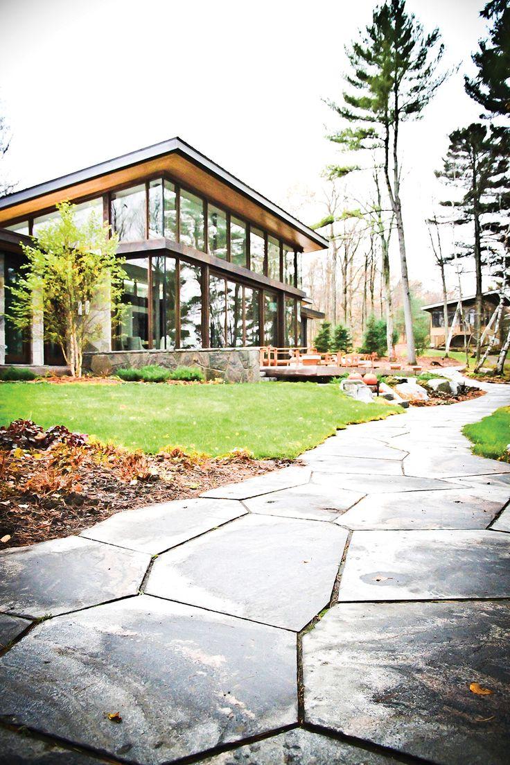 Granite landscaping from the Muskoka Rock Company