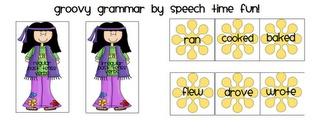 Groovy Grammar -- sorting cards for regular and irregular past tense verbs from Speech Time Fun.: Language Therapy, Sorting Cards, Speech Language, Language Activities, Speech Time, Speech Therapy, School Ideas
