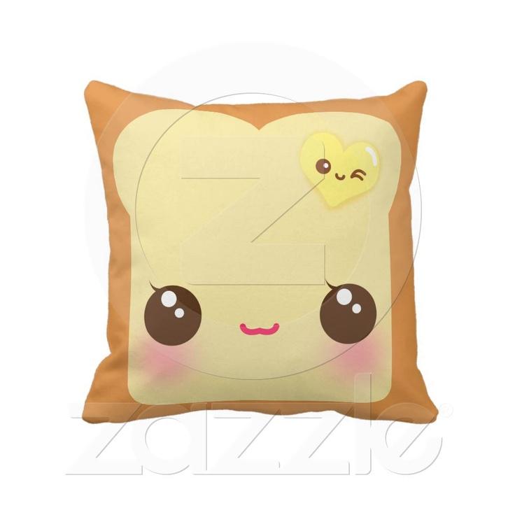 Toast, Kawaii and Pillows on Pinterest