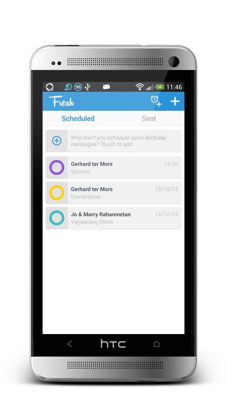 Android App om SMS-jes in te plannen. Leuk om toe te passen bij hikes of spellen.