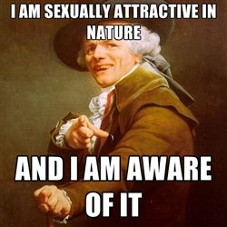 Joseph Ducreux - I am sexually attractive in nature and i am aware of it