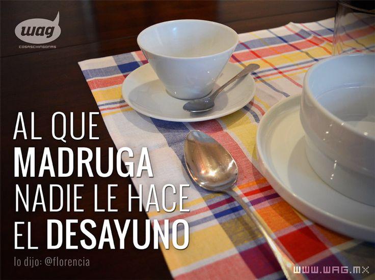 Es cierto, así que... ¡A desayunar!  #desayuno #frases #citad