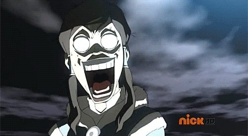 "This is what I felt like after I watched the Legend of Korra Episode 8 ""When Extremes Meet"""