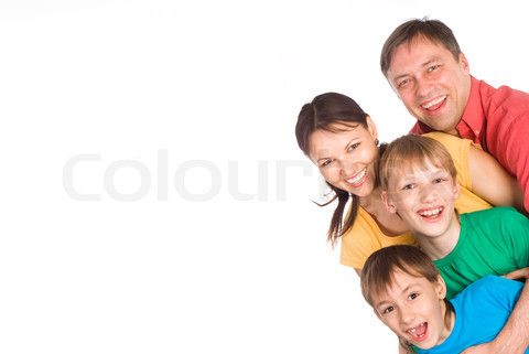 Image of 'cute family portrait' on Colourbox