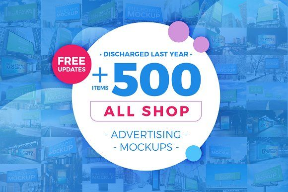 +500 Mockup Bundle [All Shop] by Mockups World on @creativemarket