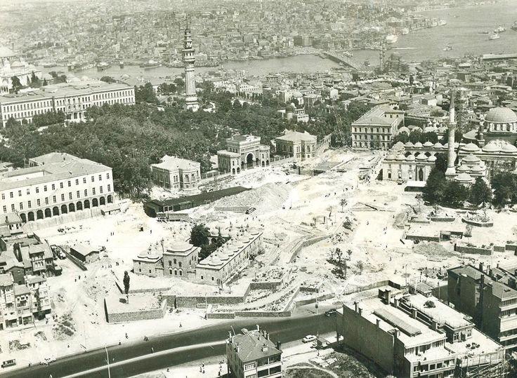 Havadan Beyazıt Meydanı Düzenlemeleri 1957-1959 yılları arası.