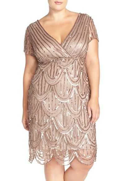 Free shipping and returns on Marina Beaded Empire Waist Dress ( ) at Nordstrom.com. A sparkling party dress in a flattering design with a surplice Empire bodice features a V-back neckline, sheer illusion sleeves and a fish-scale pattern of tonal sequins overlaying the skirt.