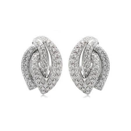 Leo Pizzo Diamond 18k White Gold Earrings