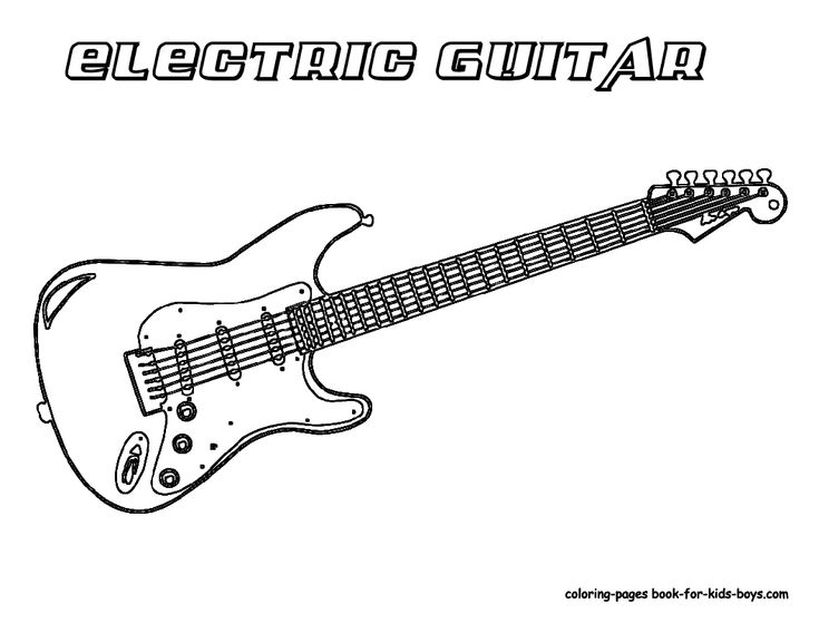 Coloring Pages Guitar : Best music coloring pages sub ideas images on pinterest