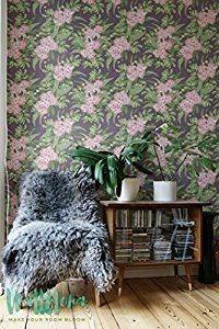 Hibiscus Wallpaper - Removable Wallpaper - Tropical Wallpaper - Hibiscus Wall Sticker - Tropical Wall Decal - Hibiscus Adhesive Wallpaper - - Amazon.com
