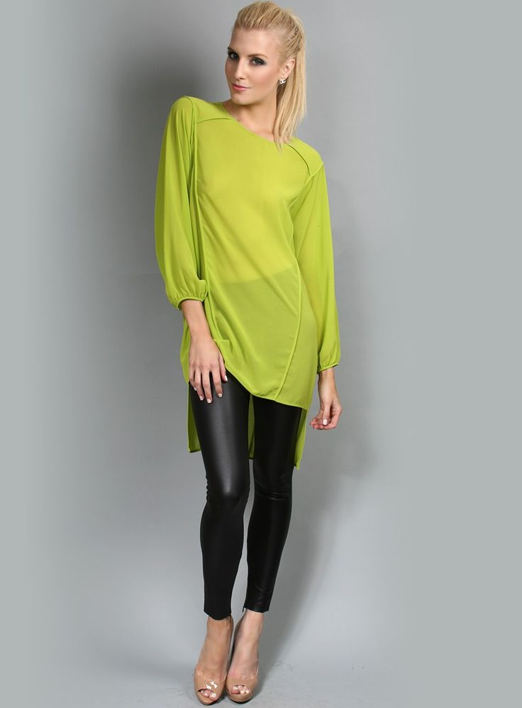 Hunters Top by Honey & Beau-Lime - Gosh Celebrity Fashion Online
