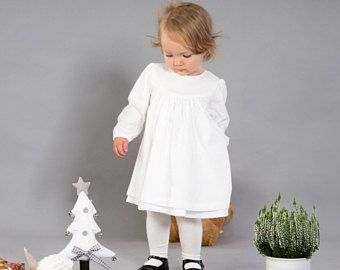 Baby girl Baptism dress Christening gown Baby girl ivory dress Baby girl cotton jersey dress Baby girl clothes Special occasion dress