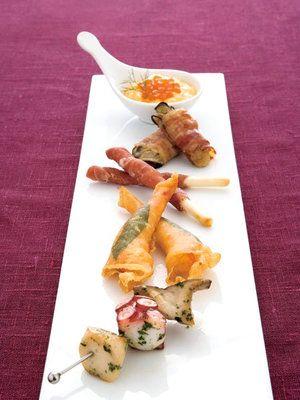 【ELLE a table】前菜5種盛り 生ハムグリッシーニレシピ|エル・オンライン
