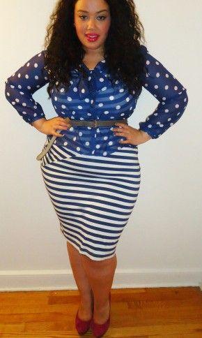 {Stripes & Polk-a-Dots} REAL Curvy Girl inspiration from Allison McGevna, her blog: Inside Allie's World